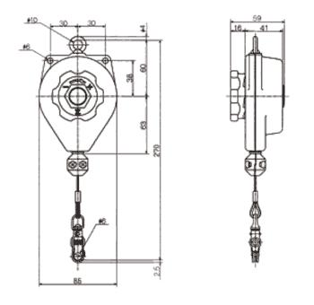 Technische informatie Endo veerbalancer ERP serie 0.3kg - 2kg